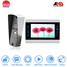 7 Inch AHD960P intercom System Video connect 6 monitors room to room interphone