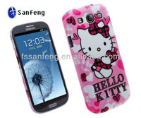 Promotional Christmas Hello Kittying Mobile phone case for Samsung Galaxy S 3 III i9300