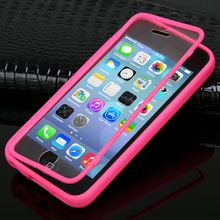 Ultra Thin Flip TPU Soft Silicone Clear Case Cover for iphone 5 5S 5G/5C 6 6 plus both Back and Front protective housing
