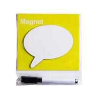 INTERWELL MG103 Blank Fridge Magnet, Mini Dry-Erase Magnet Board with Pen