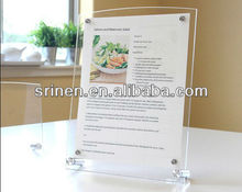 Acrylic Table Menu Display Holder