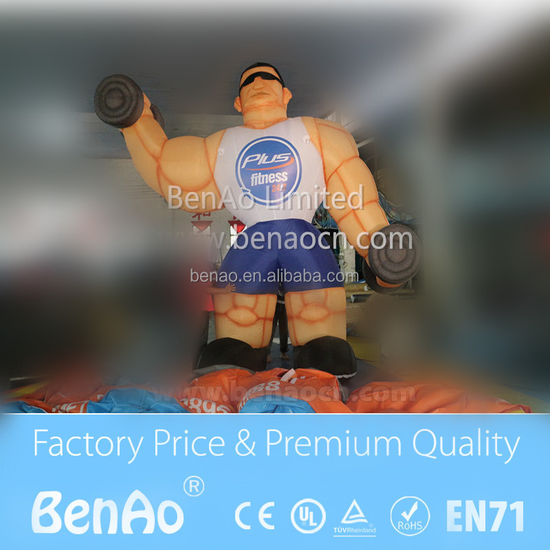 Z003 customized advertising inflatable product model Inflatable adverting muscle man model for outdoor gym advertising