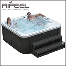 Freestanding acrylic balboa control system 5 person outdoor sex massage hot tub spa