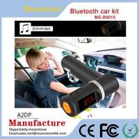 Bluetooth Car Kit Speakerphone Stereo Handsfree Speaker Phone FM Transmitter Play Music From USB bluetooth car kit