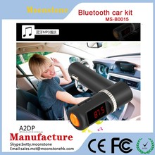 Bluetooth Car Kit Speakerphone Stereo Handsfree Speaker Phone FM Transmitter Play Music From USB bluetooth car kit