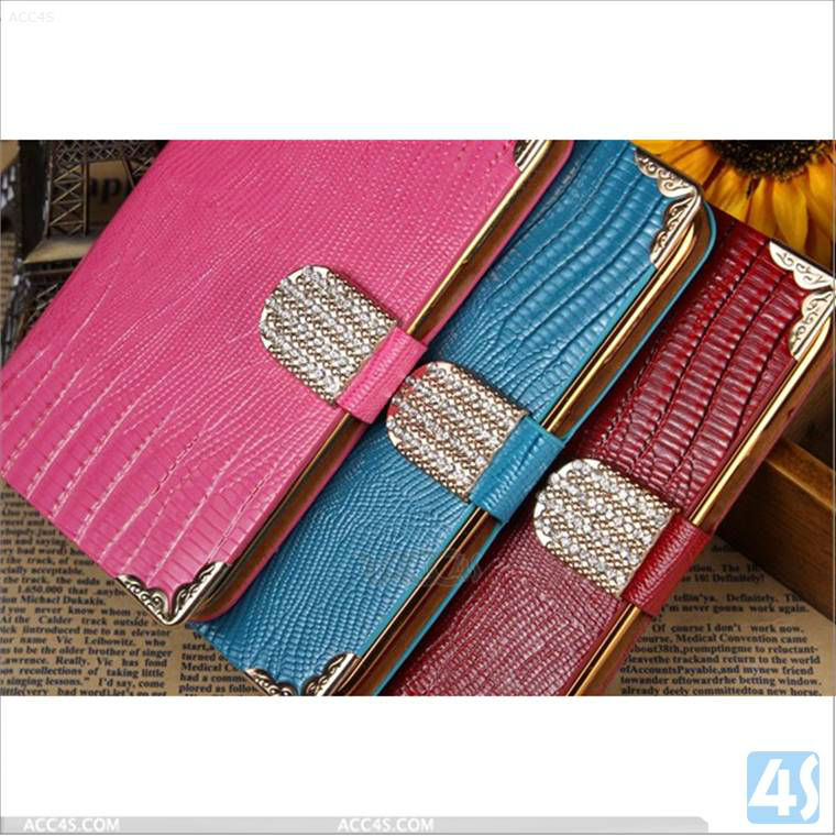 Fashionable Women Diamond Buckle Leather Case for Samsung Galaxy Note 2/N7100 P-SAMN7100CASE043