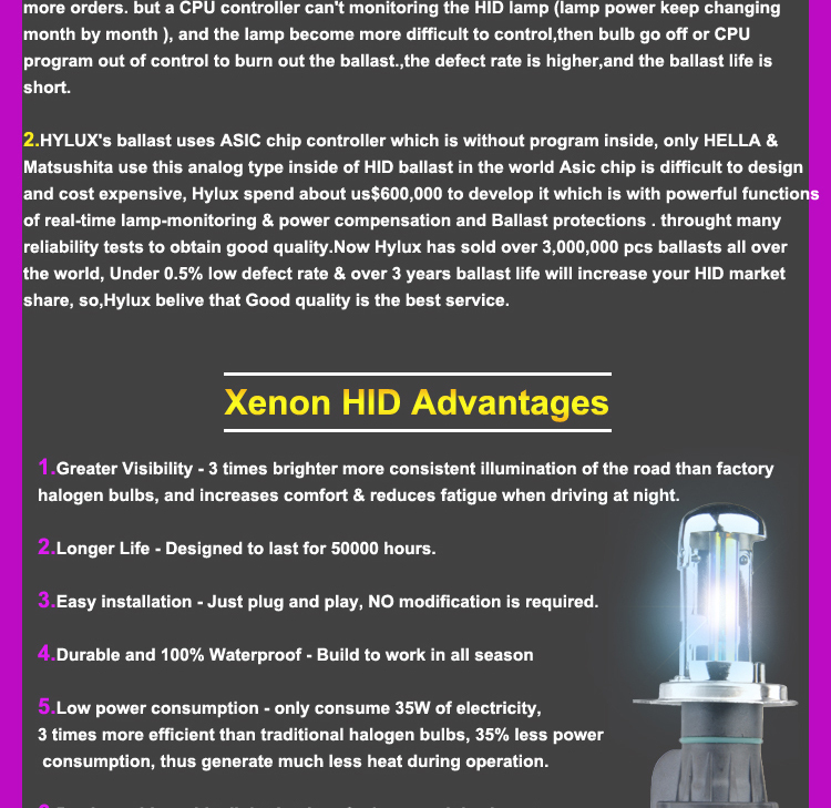 Hot sale high quality CANBUS ballast 12v 35w h4 xenon hid kits