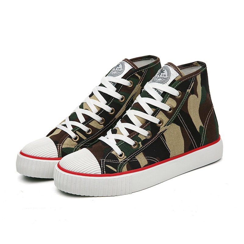 Beautiful and special Women canvas shoes Camouflage upper comfortable for spring and autumn