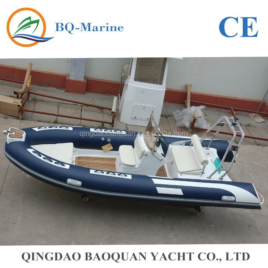 4.8m center console rib boat with teak floor RIB480C with CE
