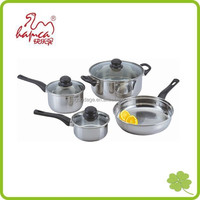 Cheap Induction Stainless Steel Cookware Cooking Set 7pc Pots Pans