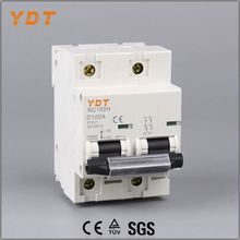 YDT electrical switch, nc100h nc-100h dz47-100 from 63a 80a 100a 125a, function miniature circuit breaker
