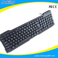 Plastic stock products USB interface type computer keyboard