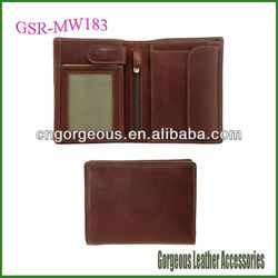 Quality Brand Men Leather Wallets with Coin Pocket