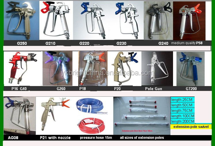 Stucco Sprayer, Mortar Sprayer, Plaster Sprayer with Heay Duty Trigger Air Valve factory direct selling