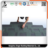 Fiberglass asphalt roofing Shingles coloured glaze green asphalt roof shingles made in China