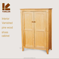 Best quality cheap varnished 2 door design kitchen/shoes cabinet