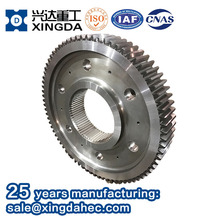 Chinese Manufactory Supply High Precocious Large Diameter Metal Steel Spur Gear Wheel