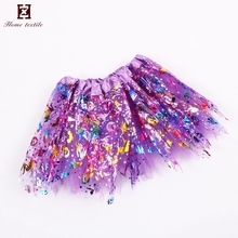 2018 Top fashion fine design purple fascinating children sequin dance costumes Dance romantic tulle tutu skirt