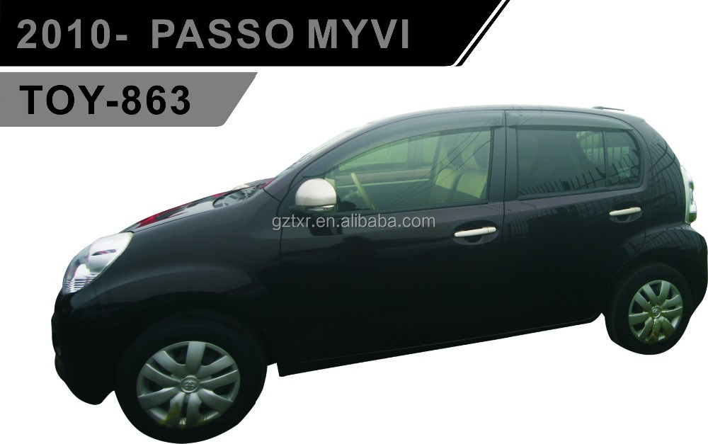 TOYOTA wind Deflector For 2010- PASSO MYVI (TOY-863)