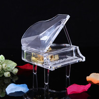 Wholesale Wedding favors Crystal Piano shape Music Box