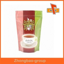 Guangzhou supplier pakaging material customize best quality stand up ziplock plastic bag for tea packing