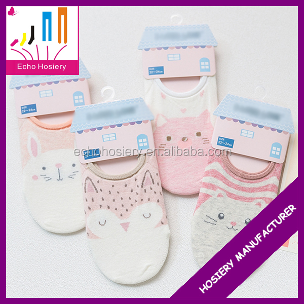 2017 Hot New Fashion Wholesale Girls Shoe Liners Invisible Socks