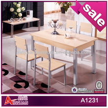 A1231 Top sale Russian 4 chairs dining tables sets