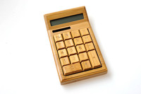Large Chunky Handmade Crafted Bamboo Wooden Calculator