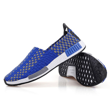 hand made fashion model lovers woven shoes wholesale,cheap stylish woven casual shoes for men and women