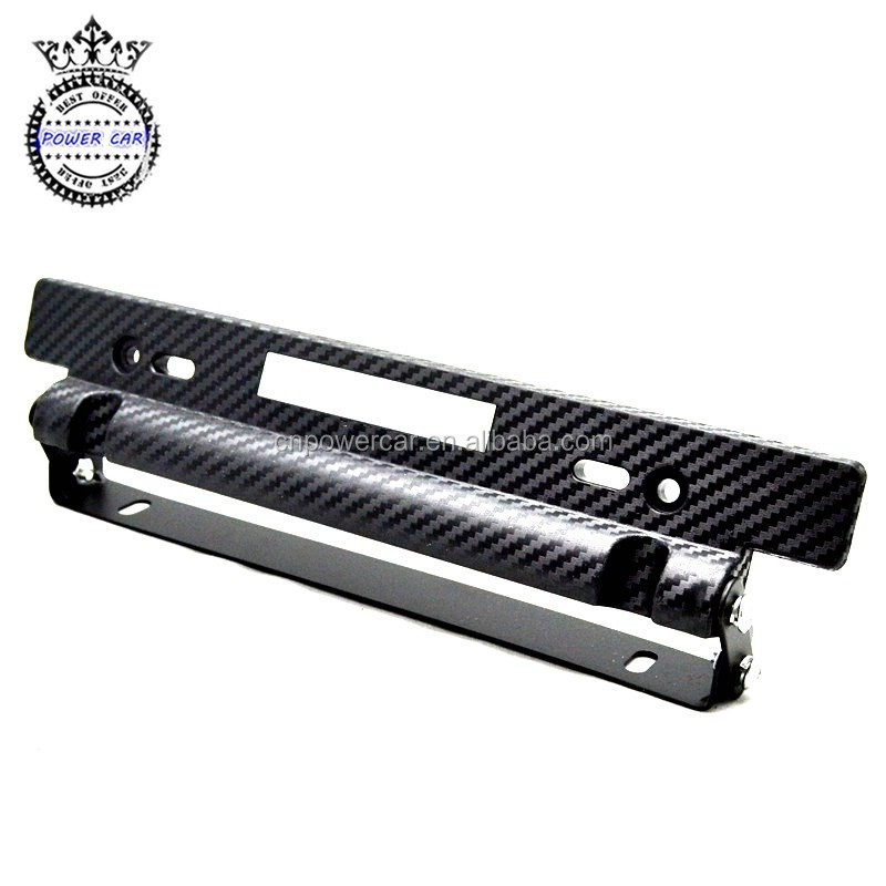 Racing Carbon Fiber Look Adjustable Number plate License Plate Frame