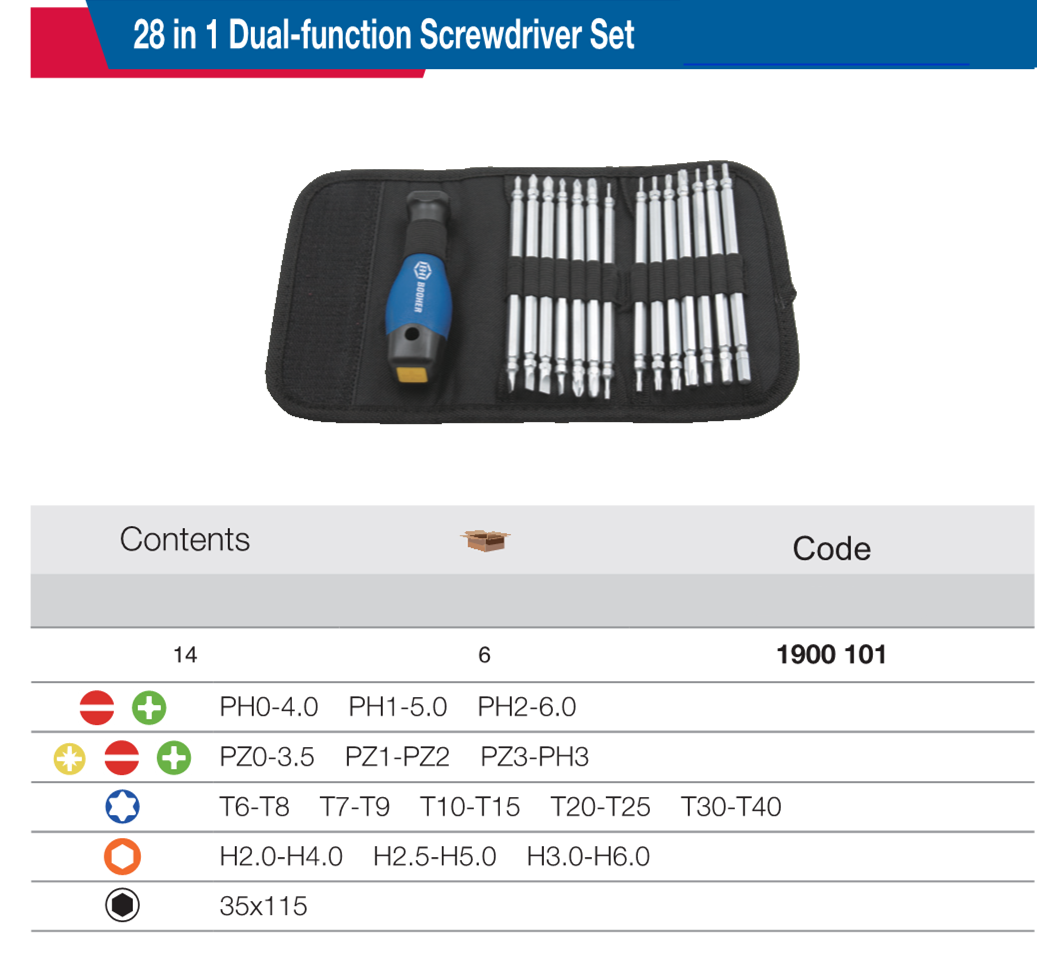 Shanghai Ltd Co BOOHER 1900101 28 In 1 Dual-function Screwdriver Set Booher Industrial Tools