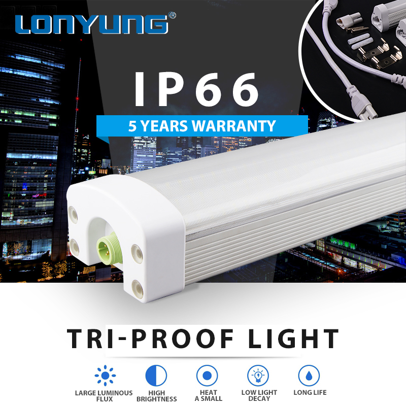 Explosion proof lighting Harsh Environments 15w 30w 40w 60w 80w 90w 120w led tri proof linear light