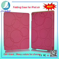 New arrival circle fashion design flip leather case for ipad air
