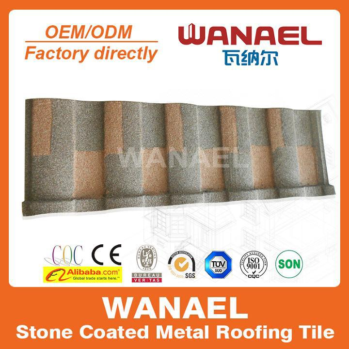 New product, Roman WANAEL low cost stone coated/retractable/recycled rubber roof tiles