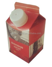 aseptic package juice gable top carton with cap