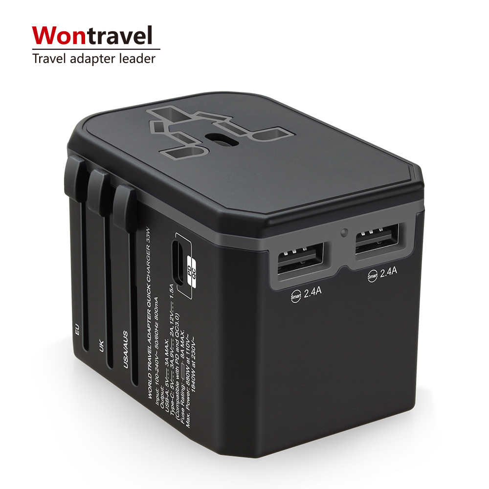 Electronic Switching Plug 33W PD Quick Charge Universal Travel Adaptor Power Laptop Charger Type C <strong>Adapter</strong>