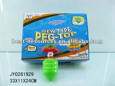 IR musical flashing peg top toy/spinning top toys with light