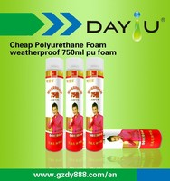 A class quality DY900 b2 fire retardant 750ml polyurethane expanding spray foam