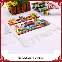 Baoman 100 cotton active printing pattern for used for tea towel with good design