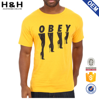 OEM T Shirt For Men With Custom Logo Printing no minimum quantity required
