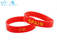 Spain flag World flag silicone basketball sport energy bracelet red power bangle balance wristband