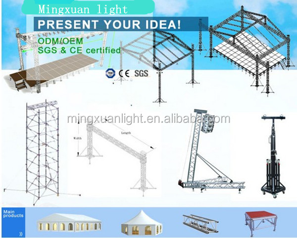 6082/T6 Aluminium Cheap Spigot truss,roof truss and truss system/YS-1103