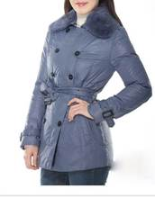 Women Coat And Skirt Waisted With Double Row Button
