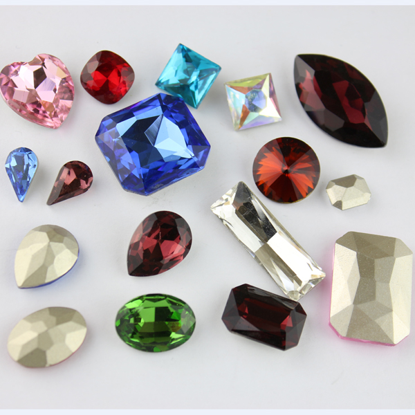 A quality swarovsk crystal fancy stone, keco crystal is work on all kind of crystal fancy stone component