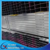 Chinese ERW galvanized steel rectangular tube products for buildings materials