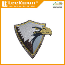 Eagle embroidered patch with iron on backing