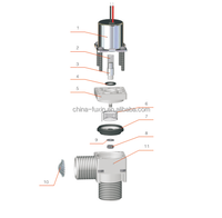 automatic faucet pulse 6V plastic water solenoid valve normal close control electric valve 2 way electric water valve