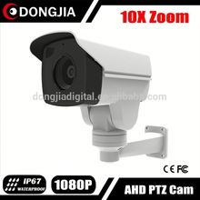 DONGJIA IMX322 2MP 10X Optical Zoom Night vision AHD Bullet PTZ fast focus and zoom