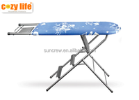 family use foldable Mesh top folding ironing board with step ladder