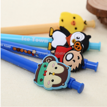 Promotional Cheap Price Clip Rubber Cartoon Ball point Pen with Logo
